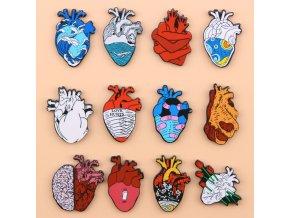 Originální odznaky / placky ve tvaru srdce ANATOMY