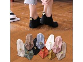 4ks kotníčkové ponožky / dámské ponožky HEART