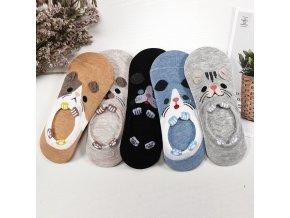 Veselé ponožky 5 párů / roztomilé kotníčkové ponožky CUTE
