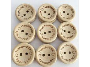Dřevěné handmade knoflíky