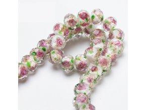 Skleněné korálky / květinové korálky BLOOM