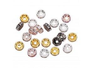Korálky s kamínky 50 ks / ozdobné korálky STAR