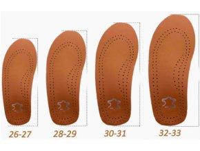 Koženkové ortopedické vložky do bot