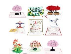 3D blahopřání / přání k narozeninám WISH