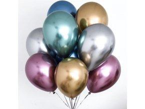 Nafukovací balónky 10 ks / metalické balónky PARTY