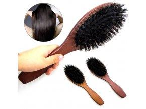 Přírodní kartáč na vlasy / dřevěný kartáč na vlasy HOOD