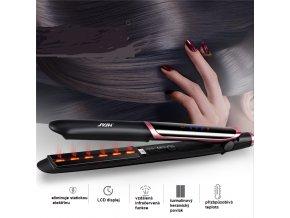 Profesionální žehlička na vlasy / žehlička na vlasy s ionizátorem SAFE
