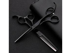 Černé kadeřnické nůžky / nůžky na vlasy ASIAN