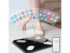 Chytrá osobní váha / osobní váha s měřičem BMI s aplikací FIT