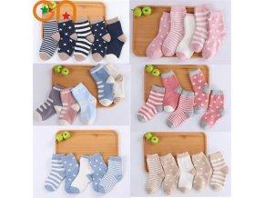 mainimage05 Pair Lot Kids Soft Cotton Socks Boy Girl Baby Cute Cartoon Warm Stripe Fashion Sport