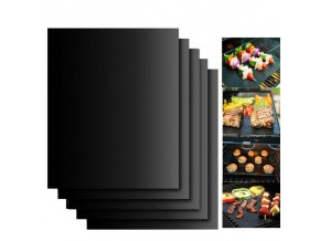 mainimage0BBQ Grill Mat Barbecue Outdoor Baking Non stick Pad Reusable Cooking Plate 40 30cm for Party