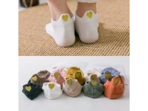 mainimage0SALE 5Pairs New Heart Socks Women Cotton Socks Ankle Short Cute Heart Casual Funny Sock Fashion