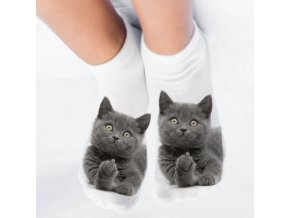 mainimage1New 3D Print Funny Cute Cartoon Kitten Unisex Short Socks Creative Colorful Multiple Cat Face Happy
