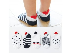 mainimage05Pairs lot 0 2Y Cute Lovely Short Baby Socks Red Heart for Girls Cotton Mesh Cute