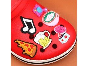 mainimage1Single Sale 1pcs Animals 29 Types Shoe Charms Accessories Decorations Sad Frog PVC Croc jibz Buckle