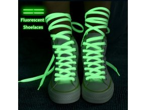 mainimage01 Pair Luminous Shoelaces Flat Sneakers Canvas Shoe Laces Glow In The Dark Night Color Fluorescent