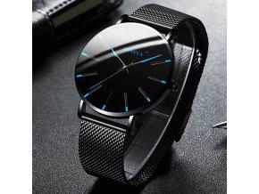 mainimage02021 Minimalist Men s Fashion Ultra Thin Watches Simple Men Business Stainless Steel Mesh Belt Quartz