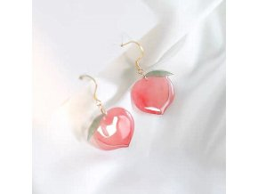 mainimage02021 Summer Hot Korean Acrylic Trendy Pink Peach Drop Earrings For Women Girls Cute Sweet Jewelry