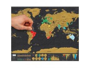 Samolepky na zeď - stírací mapa světa
