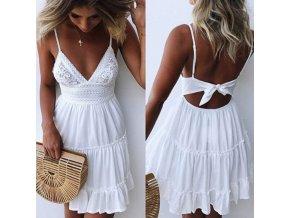 Dámské letní šaty Whitney / letní šaty s výstřihem do V