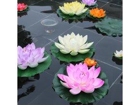 Zahradní dekorace - plovoucí leknín 5 ks / umělý leknín