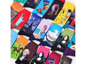 Veselé ponožky / originální vtipné ponožky Van Gogh