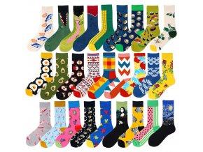 Veselé ponožky / vtipné ponožky se vzory Froggy