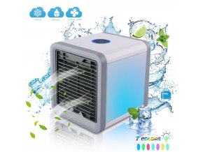 0 main portable air cooler fan mini usb air conditioner 7 colors light desktop air cooling fan humidifier purifier for office bedroom
