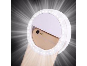 Kruhové LED světlo na mobil / selfie světlo RING