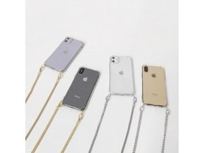 mainimage0Crossbody Transparent TPU Phone Case with Strap Long Chain for Iphone 12 11 PRO X XS