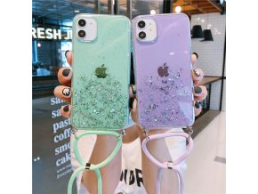 mainimage0Bling Glitter Stars Sequins Cord Chain Lanyard Phone Case For iPhone 11 Pro XS Max 12
