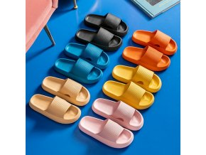 mainimage0Women Thick Platform Slippers Summer Beach Eva Soft Sole Slide Sandals Leisure Men Ladies Indoor Bathroom