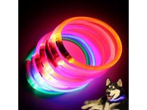 mainimage0Mini Safety Dog Collar Pet Supplies Anti lost Rechargeable LED Night Flashing Luminous USB Charging Pet