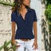 Dámská košile s krátkým rukávem (barva Modrá, Velikost L)