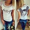 """Dámské tričko """"ANGEL"""" (barva Bílá, Velikost S)"""