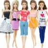 3 variant 5 set 3 set handmade fashion outfit daily casual wear blouse shirt vest bottom pants skirt clothes for barbie doll accessories