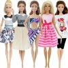 4 variant 5 set 3 set handmade fashion outfit daily casual wear blouse shirt vest bottom pants skirt clothes for barbie doll accessories