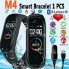 1 main m4 sport fitness pedometer walk step counter color ips screen smart bracelet blood pressure wristband smart band men women watch