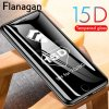 5 main 15d protective glass on the for iphone 6 6s 7 8 plus xr x xs glass full cover iphone 11 pro max screen protector tempered glass