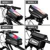 5 main wild man rainproof bicycle bag frame front top tube cycling bag reflective 65in phone case touchscreen bag mtb bike accessories