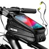 0 main wild man rainproof bicycle bag frame front top tube cycling bag reflective 65in phone case touchscreen bag mtb bike accessories