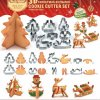 5 main diy christmas cookie cutter mould stainless 3d biscuit cookies cutter cake fondant baking tools 8 pcsset