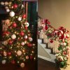 5 main 24pcs 3cm christmas ball glitter christmas tree ornaments hanging christmas home decorations palline natale decor navidad 2020