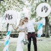 3 main big size 36inch mr mrs white latex balloons for wedding partybridal bride to be engaged party air globos wedding ballons decor