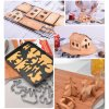5 main christmas gingerbread house cookie cutter set 3d stainless steel cookie biscuit mold fondant cutter baking tool party decor zxh