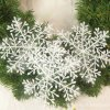 3 main 30pcs christmas party white snowflake decor for home hanging pendants new year xmas tree ornaments window decoration