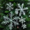4 main 30pcs christmas party white snowflake decor for home hanging pendants new year xmas tree ornaments window decoration