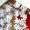 0 main 30pcs christmas party white snowflake decor for home hanging pendants new year xmas tree ornaments window decoration