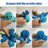 5 main reversible flip octopus stuffed plush doll soft simulation reversible plush toy color chapter plush doll filled plush child toy