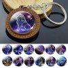 0 main 12 constellation keychain wooden pendant zodiac sign keychain aries taurus gemini cancer leo scorpio men women birthday gifts